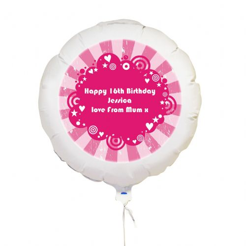 Personalised Retro Print Balloon